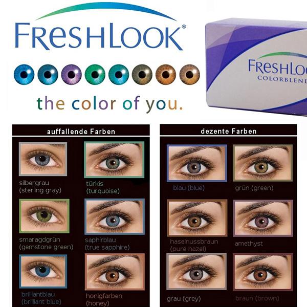 903469e6ee Freshlook Colorblends Blue/Freshlook Brilliant-Blue Contact Lenses ...